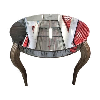 Round Beveled Mirror Entry Table