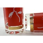 Image of Red & Gold Chinoiserie Glasses - S/4