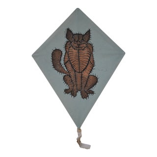 Francisco Toledo Signed Hand Made Paper Cat Motif Kite