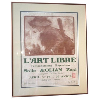 """L'art Libre"" Antique Art Show Poster 1930s"