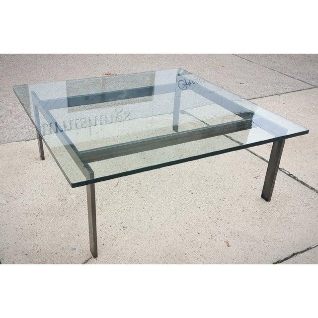 Mid Century Modern Metal Frame Glass Coffee Table Chairish