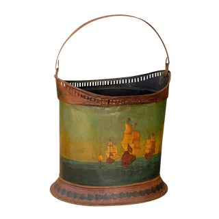 Tole Painted Bucket