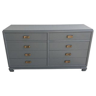 Rway Gray Lacquered Greek Key Dresser