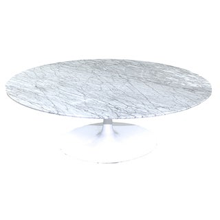 Saarinen Tulip Style Cocktail Table/Carrara Marble