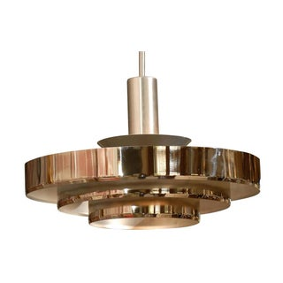 Mid-Century Nickel Plated Light Fixture