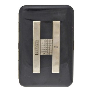 Up to Date Perpetual Calendar Deco Cigarette Case
