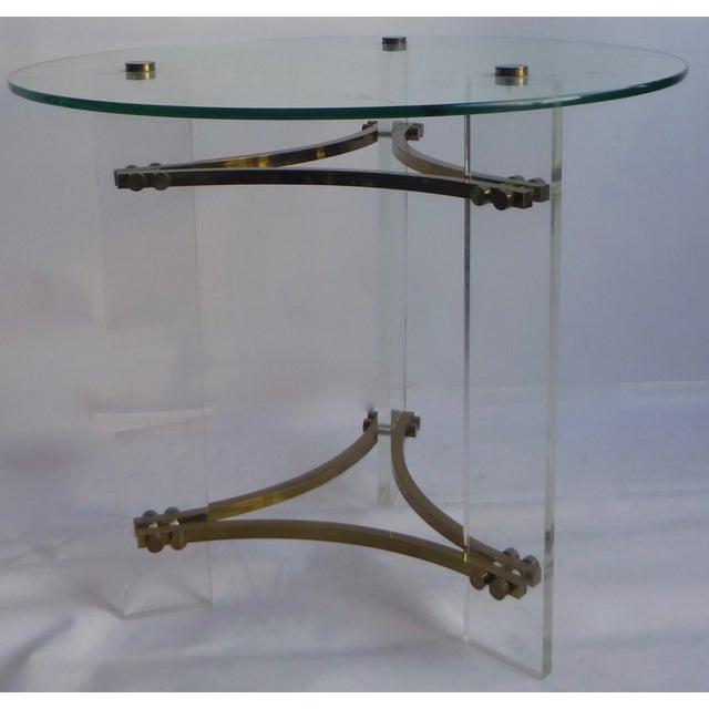 Charles Hollis Jones Lucite Table - Image 2 of 11