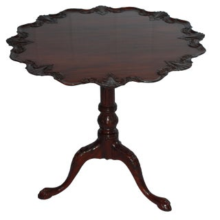Carved Mahogany Pie Crust Table