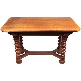 Edwardian English Oak Libray Table