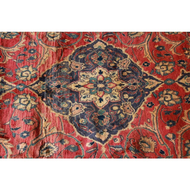 Vintage Hand-Woven Persian Rug - 7′4″ × 8′12″ - Image 6 of 9