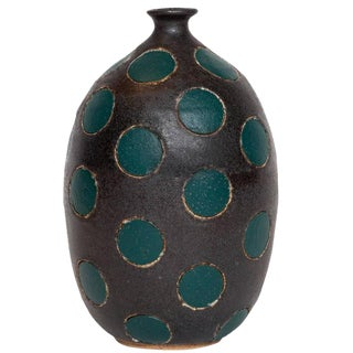 Matthew Ward Green Polka Dot Vase