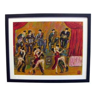 """Candombe"" Oil Pastel by Octavio Rojo"