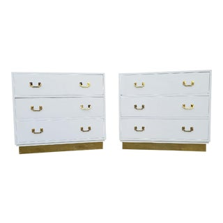 Campaign Chest of Drawers - A Pair