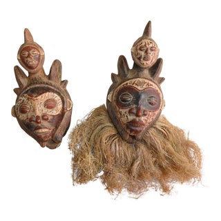 African Bapunu Masks - A Pair