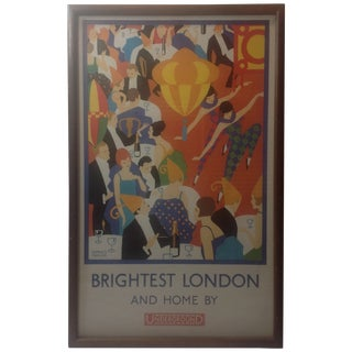 Art Deco Horace Taylor London Underground Poster