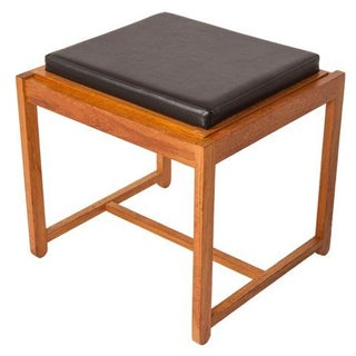 Danish Teak Reversible Stool or Accent Table