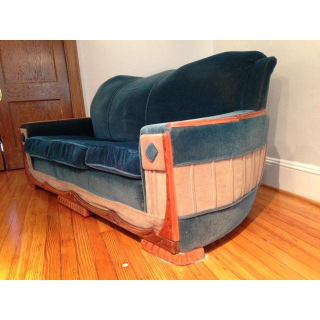 Art Deco Mohair Sofa & Armchair - A Pair - Image 8 of 11