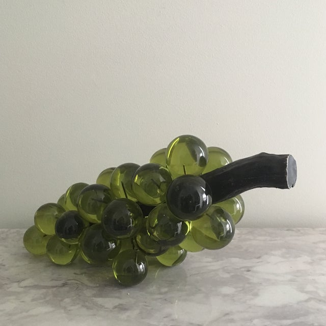Oversized Green Lucite Grapes - Image 3 of 4