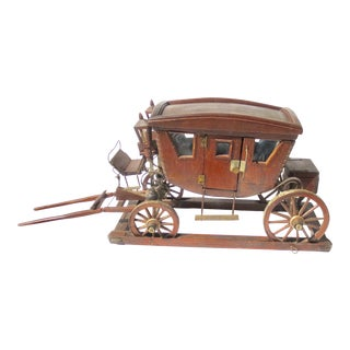 Antique Wood Stagecoach Model