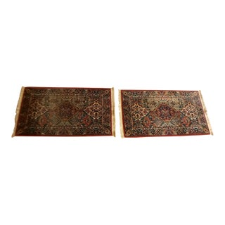 "Karastan Kirman Multi Color Rugs - A Pair - 2'6"" X 4'3"