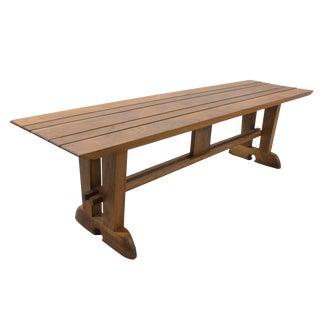 Trip-Table Slat Bench