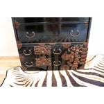Image of Vintage Black Lacquered Tansu Chest