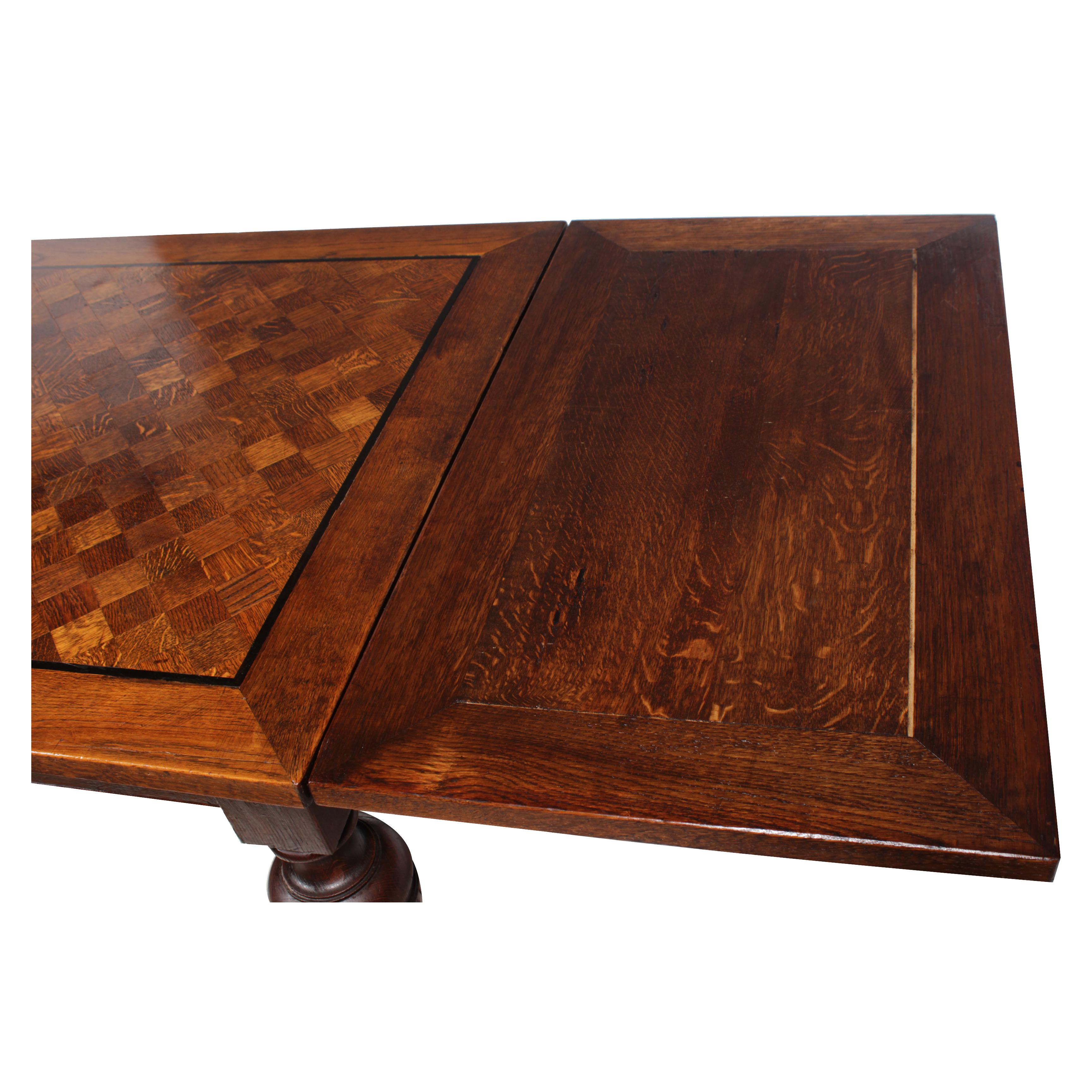 1920s Marquetry Tudor Style Dining Table   Image 5 Of 10