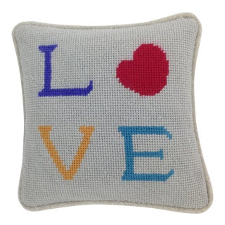 Valentine Love Needlepoint Pillow
