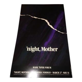 "1986 ""'Night, Mother"" Original Poster"