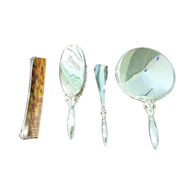 Georg Jensen Silver Dressing Set - Set of 4 - Image 1 of 11