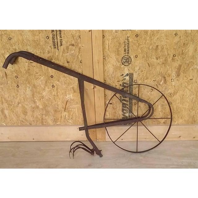Antique Tiller Plow Steel Yard Art - Image 2 of 6
