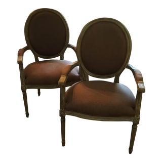 Louis Arm Chairs - a Pair