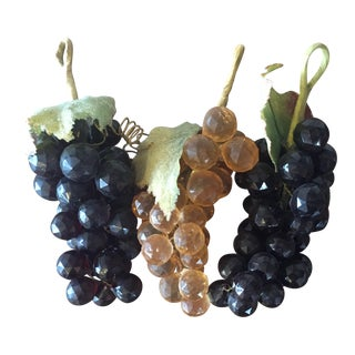 Vintage Faceted Grape Clusters - Set of 3