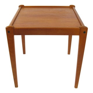 Danish Modern Side Table in Teak