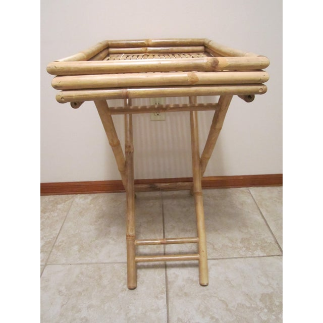 Bamboo & Rattan Table Tray - Image 4 of 11