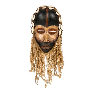 Dan People of Liberia Gold and Black Mask