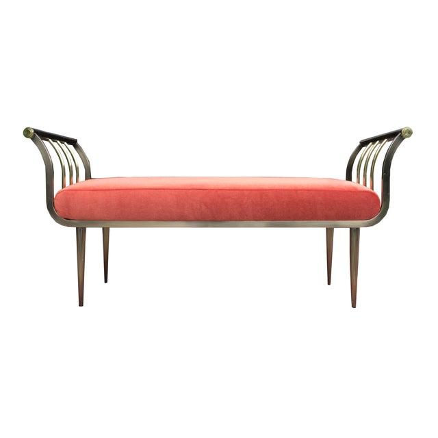 Dia Brass & Bronze Mohair Bench Design Institute - Image 2 of 5