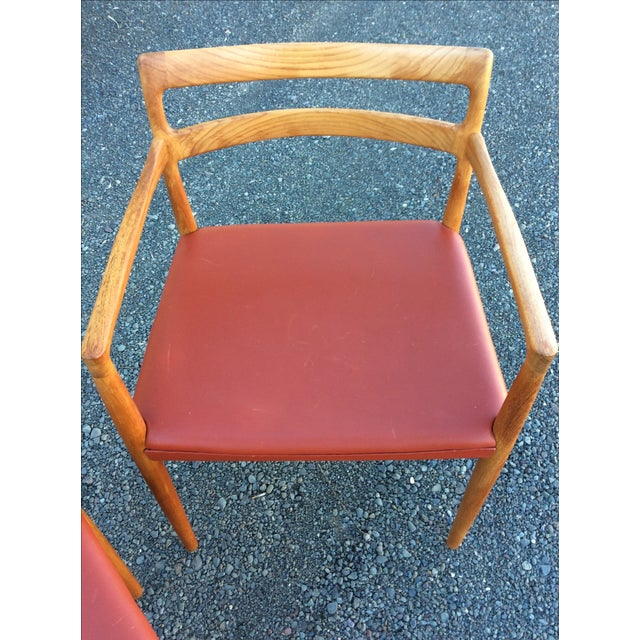 Danish Modern Teak Dining Chairs - Set of 6 - Image 8 of 10