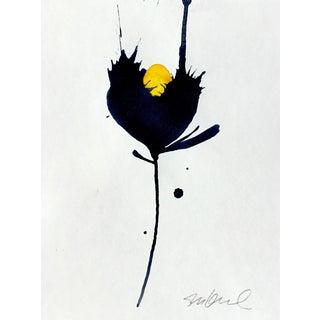 Black & Yellow Botanical Painting