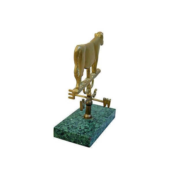 Vintage Brass Cow Table-Top Weathervane - Image 2 of 4