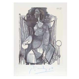 Pablo Picasso Femme Assise Dans Un Fauteuil Tress