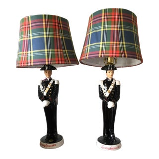 Vintage Soldier Lamps - A Pair