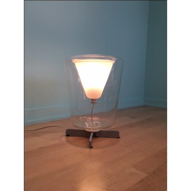 Transparent Oluce Lanterna Murano Glass Table Lamp - Image 5 of 6
