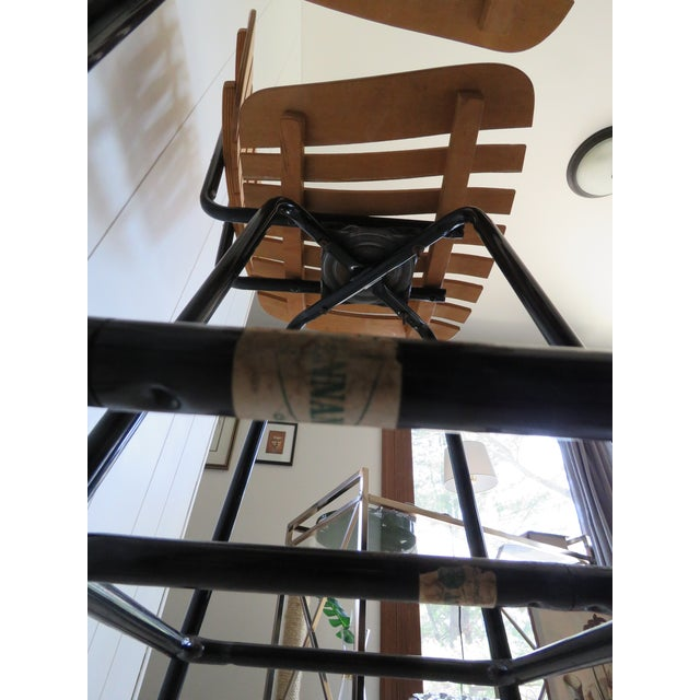 Arthur Umanoff Style Mid-Century Bar Stools - Set of 4 - Image 7 of 8