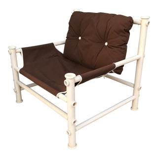 Vintage PVC Pipe Lounge Chair