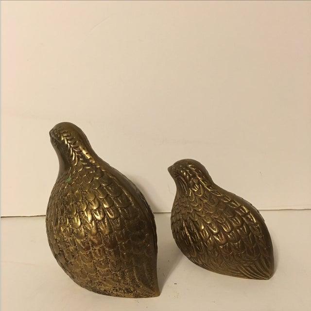 Image of Vintage Brass Quails - A Pair