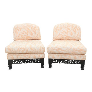Chinoiserie Slipper Chairs - A Pair