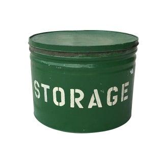 Antique Green Storage Box