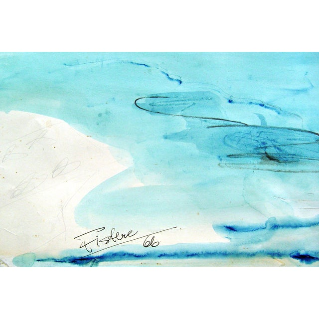Exotic Harbor Watercolor Painting - Image 3 of 3