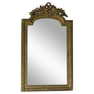 Louis XVI Style Antique French Mirror, Musical Cartouche circa 1890 (32″w x 53 1/2″h)